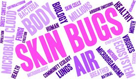 Skin Bugs Word Cloud. On a white background Stock Photos
