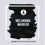 SKIN CANCER AND MELANOMA AWARENESS MONTH. Royalty Free Stock Photo