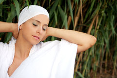 Skin care. Natural cosmetic beauty with tissue royalty free stock image