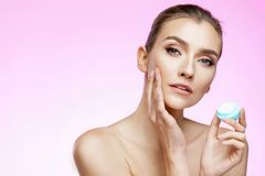 Skin care and beauty concept royalty free stock images