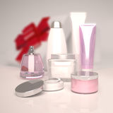 Skin care beauty. Gift set of cosmetics. Royalty Free Stock Images