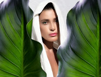Skin Care. Beauty Spa Girl Stock Images