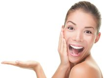 Skin care beauty woman Stock Images