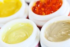 Skin care creams Royalty Free Stock Photography