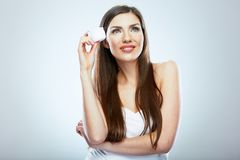Skin care face woman portrait. Beauty concept. Royalty Free Stock Photo
