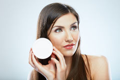 Skin care face woman portrait. Beauty concept. Royalty Free Stock Image