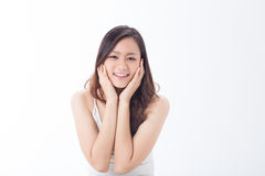 Skin care girl Stock Images