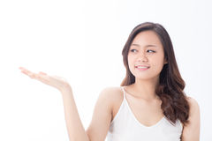Skin care girl Royalty Free Stock Images