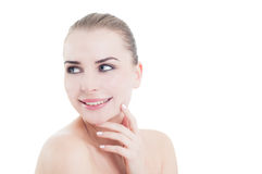 Skin care and natural daytime make-up concept Stock Image