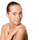 Skin care portrait Stock Image