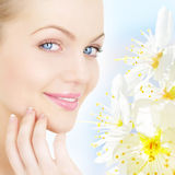 Skin Care. Portrait of young woman Stock Image