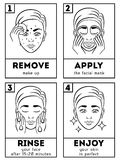 Skin care vector infographic Royalty Free Stock Photos