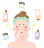 Skin care woman Royalty Free Stock Photography