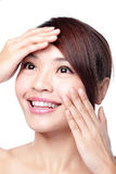 Skin Care woman with beauty face and skin Stock Photography