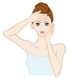 Skin care Woman Royalty Free Stock Image