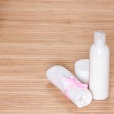 Skin cleansing cosmetics Royalty Free Stock Images