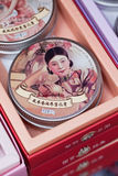 Skin cream in traditional packaging, Shanghai, China Stock Photo