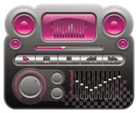 Skin of digital audio mp3. Elements for skin of digital audio mp3 player, emo style Stock Images