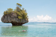 Skin diving around island in south of Thailand Stock Photos