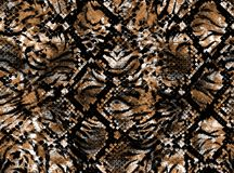 Skin of a leopard stock illustration