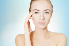 Skin lifting, beauty concept Stock Photo