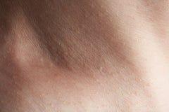 Skin on man neck Royalty Free Stock Image