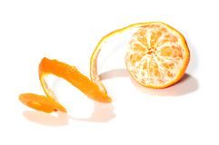 Skin mandarin stock photography