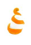 Skin of mandarin with an egg Stock Photos