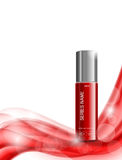 Skin moisturizer cosmetic ads template Stock Photos