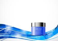 Skin moisturizer cosmetic design template Royalty Free Stock Photos