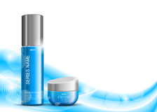 Skin moisturizer cosmetic design template Royalty Free Stock Images