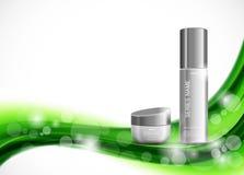 Skin moisturizer cosmetic design template Stock Photo