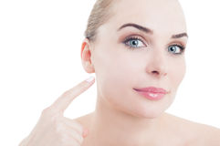 Skin perfection and daytime cosmetics concept Royalty Free Stock Images