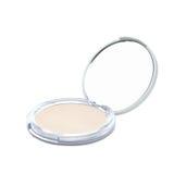 Skin powder and beauty mirror Royalty Free Stock Photos