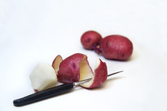 Skin from Red Potato Peeling Royalty Free Stock Photo