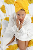 Skin revitalize. Inscenization of skin care or revitalize Royalty Free Stock Photo