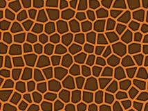 Skin tiger. Vector abstract golden fish skin tiger Stock Photo