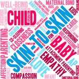 Skin-To-Skin Word Cloud. On a white background Royalty Free Stock Image