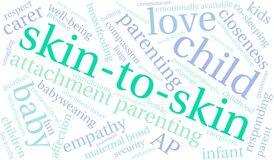 Skin-To-Skin Word Cloud. On a white background Stock Photos