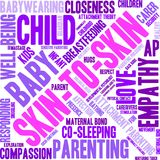 Skin-To-Skin Word Cloud. On a white background Royalty Free Stock Photo