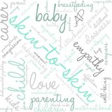 Skin-To-Skin Word Cloud. On a white background Stock Image