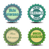 Skin tolerance badges Royalty Free Stock Image