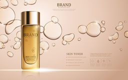 Skin toner ads template Stock Photography