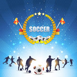 Skina bakgrund för fotboll Royaltyfri Bild