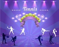 Skina bakgrund för tennis Arkivfoto