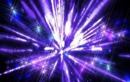 Skina en fantastisk radiell tryckvågblåttton fractal Arkivfoton