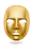 Skina maskerar isolerat Arkivfoton