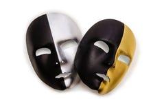 Skina maskerar isolerat Arkivfoto