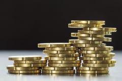 Skina tjugo mynt för eurocent Arkivbild