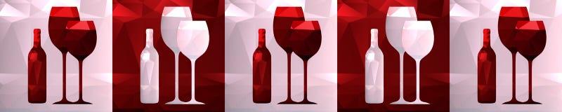 Skinali polygonal flaska och exponeringsglas, möblemangkökgarnering Arkivbild
